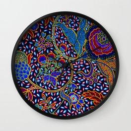Tahiti Tropical Island Exotic Colorful Pattern Of Joy Wall Clock