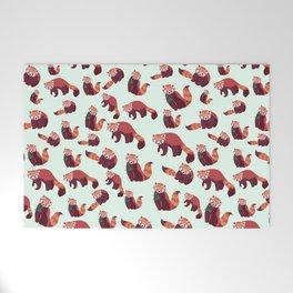 Red Panda Pattern Welcome Mat