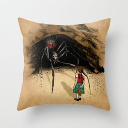 Consultation with the Spider Queen Throw Pillow