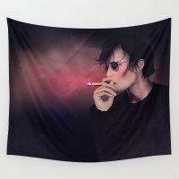 erotic Wall Tapestries featuring Smokey Man by Schwebewesen • Romina Lutz