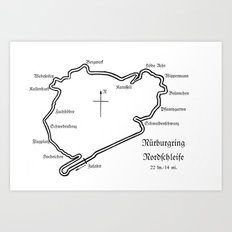 RennSport Shrine Series: Nürburgring Edition Art Print