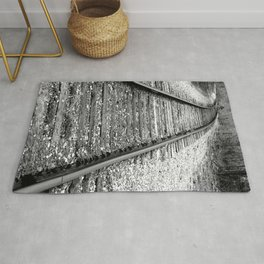 Train Tracks, Train Photography Rug