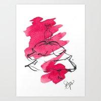 Retro Chic Runway Dress 4 Art Print