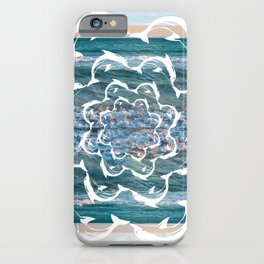 white dolphins' gyre iPhone Case