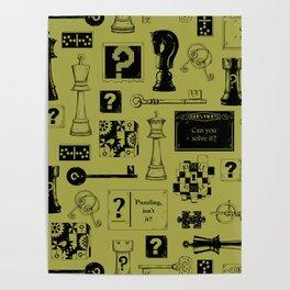 Brain Teaser pattern Poster
