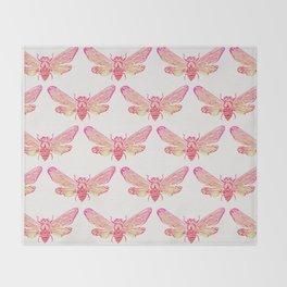Summer Cicada – Pink Palette Throw Blanket