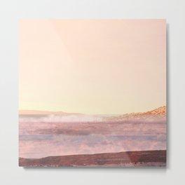 Pink Desert Landscape, Abstract Modern Southwest Metal Print
