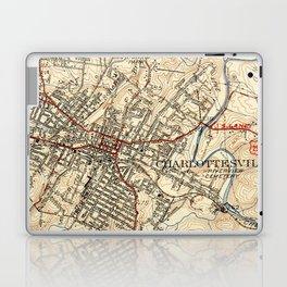 Vintage Map of Charlottesville Virginia (1949) Laptop & iPad Skin