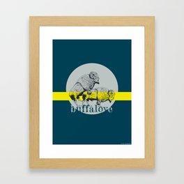 Buffalove Framed Art Print