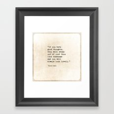 Roald Dahl Lovely Quote Framed Art Print