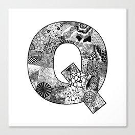 Cutout Letter Q Canvas Print
