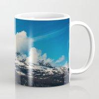 alaska Mugs featuring Alaska Mountain by Leah Flores