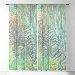 Van Gogh Garden of Doctor Gachet Sheer Curtain