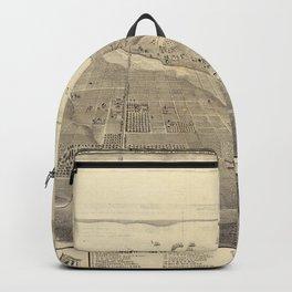 Vintage Pictorial Map of San Deigo CA (1887) Backpack