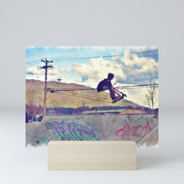 Graffitti Glide Stunt Scooter Sports Artwork Mini Art Print