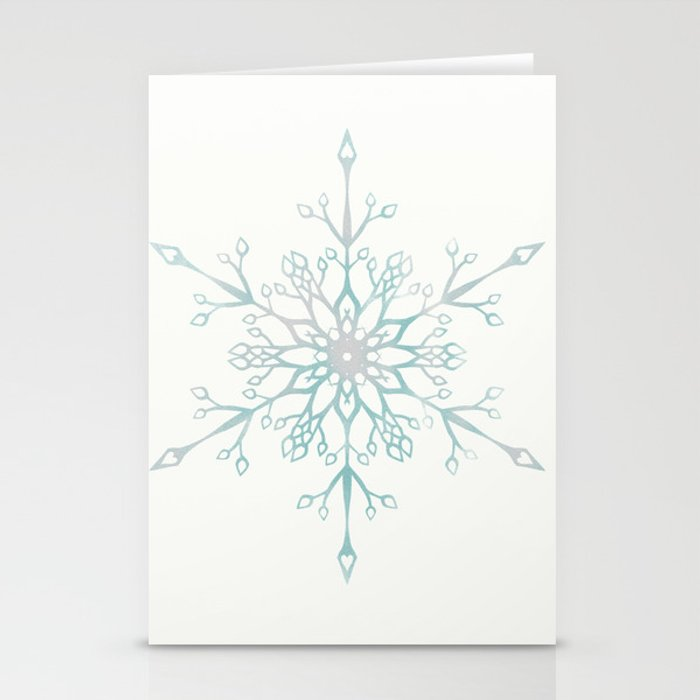 a single snowflake stationery cards by xpressionables society6