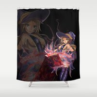 witch Shower Curtains featuring Witch by Brett Parkey