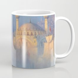Constantinople (Istanbul) Süleymaniye Mosque in Fog by Ivan Aivazovsky Coffee Mug