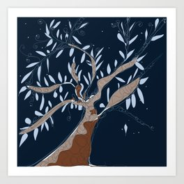 Tree of connection  Art Print