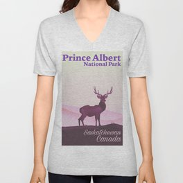 Prince Albert National Park central Saskatchewan, Canada Unisex V-Neck