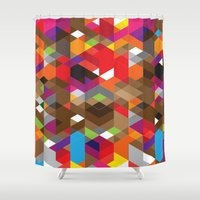 deadmau5 Shower Curtains featuring Life like a Geometry by Sitchko Igor
