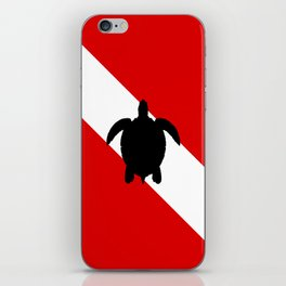 Diving Flag: Sea Turtle iPhone Skin