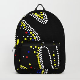 Powerful. Dot art. Backpack