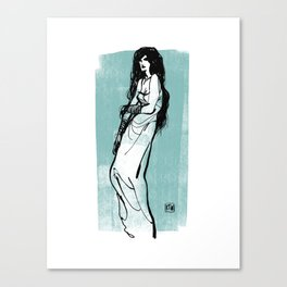 Darkness Girl Canvas Print