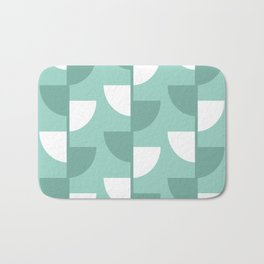 Pastel Green Slices in The Summer Shade Bath Mat