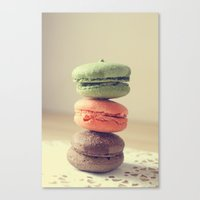 macaroons Canvas Prints featuring Macaroons by Adeline Lee