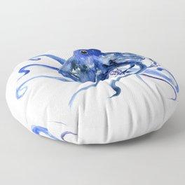 Octopus Design Blue Navy Blue Beach, cute ocotpus texture art Floor Pillow