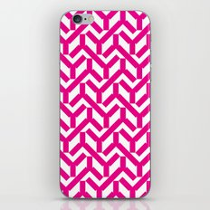 Magenta Geometry Pattern iPhone Skin