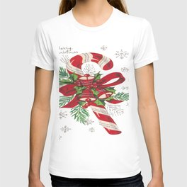 Vintage Merry Christmas Candy Cane T-shirt