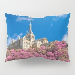 Mont Saint-Michel Abbey - Pink Fantasy Pillow Sham