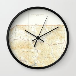 Seminole, CA from 1932 Vintage Map - High Quality Wall Clock