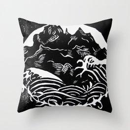 Black Mountains Throw Pillow