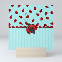 Sweet Ladybugs Mini Art Print