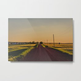 Country Road, Golden Valley County, North Dakota Metal Print