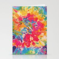 tie dye Stationery Cards featuring Tie Dye by The Dope Scope