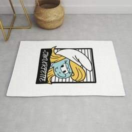 Blue Smurfette inspired picture Rug