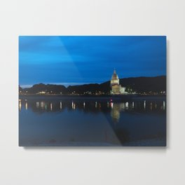 Charleston West Virginia Capitol at Blue Hour Metal Print