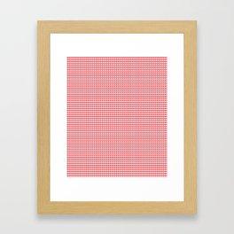 Cute Bright Red Hearts Pattern Framed Art Print