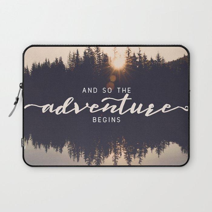 And So the Adventure Begins II Laptop Sleeve