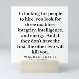 33    Warren Buffett Quotes   190823 Mini Art Print