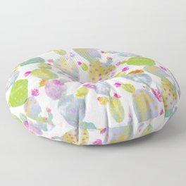 Blooming Spring Cacti Floor Pillow