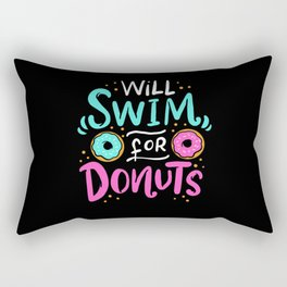 Will Swim For Donuts - Gift Rectangular Pillow