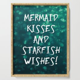 Mermaid Kisses and Starfish Wishes Serving Tray