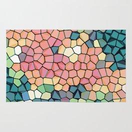 Colored Stone Blocks Pattern Rug