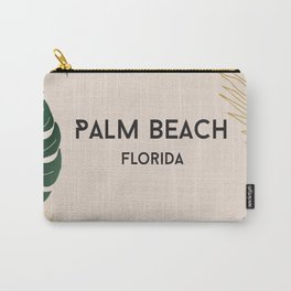 Palm beach tropical poster Carry-All Pouch