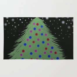 Christmas Tree In The Night Rug